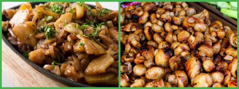 Можно ли есть жареные грибы на диете?