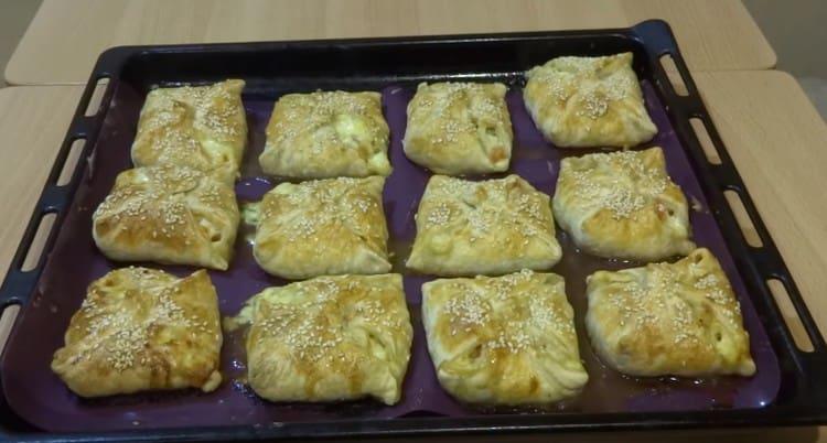 конвертики с сыром пошагово